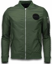 Enos BomberJack Heren - Bomber Jas Rescue Air force One - Groen - Maten: M