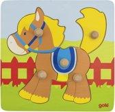 Goki Steekpuzzel paard 5-delig