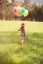 Little Girl with Balloons Journal