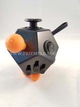 Fidget Cube 2.0 PRO -Twaalfvlak - Friemelkubus. Zwart-Oranje