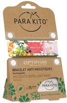 Parakito Anti-Muggen Armband Garden Flowers + 2 navullingen