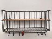 Bakkersrek - Metaal - Grijs - 80 x 40 x 20 cm - Varios