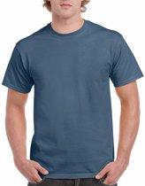 Indigoblauw katoenen shirt voor volwassenen L (40/52)