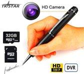 Verborgen Camera Spy Pen |webcam/Camera modus | USB Opladen | 32 GB SD Micro Kaart | USB Kaartlezer | Inkt Vult pen |Zwart