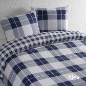 Day Dream Alex dekbedovertrek - eenpersoons - 140x200/220 - Blauw