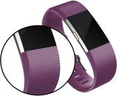 Classic Bandje Paars geschikt voor FitBit Charge 2 – Siliconen Armband Purple - Small