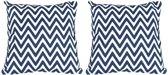 Baytex Sierkussen Zigzag - BYT6193 - Blauw - 2 Stuks
