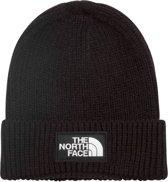 The North Face TNF Logo Box Cuffed Beanie Muts (Sport) - Unisex - zwart