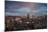 Donkere wolken boven de Chinese stad Hangzhou Aluminium 180x120 cm - Foto print op Aluminium (metaal wanddecoratie) XXL / Groot formaat!