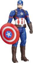 Marvel Avengers Captain America Elektronisch actiefiguur - Titan Hero 30 cm