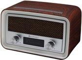 Soundmaster UR190DBR DAB+,  en FM wekker radio bruin
