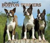 Boston Terriers, for the Love of 2020 Deluxe Foil