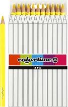 Colortime Kleurpotloden, vulling: 5 mm, geel, Jumbo, 12 stuks