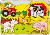 Goki 5-delige puzzel op de boerderij