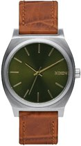 Nixon A0451888 Time Teller saddle gator - Horloge - 37mm - Groen
