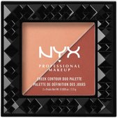 NYX Cheek Contour Duo Palette - Ginger & Pepper