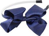 Jessidress Chique Meisjes Haar Diadeem met haarstrikje van licht glitters - Donker Blauw