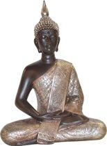 Thaise Boeddha zittend zwart zilver | GerichteKeuze