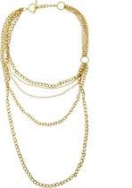 Lange ketting goud-kleur