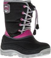 Wintergrip Snowboots - Maat 33-34 - Unisex - zwart/grijs/roze (valt klein)