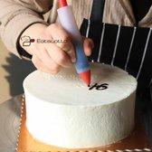 Siliconen decoratie pen | met chocolade schrijven op taart, cake, koek etc. - garneerspuit - decoratiespuit