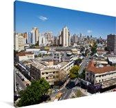 Skyline van het Zuid-Amerikaanse Goiânia in de middag Canvas 140x90 cm - Foto print op Canvas schilderij (Wanddecoratie woonkamer / slaapkamer)