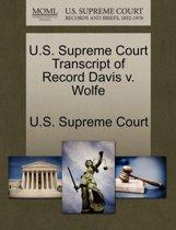 U.S. Supreme Court Transcript of Record Davis V. Wolfe