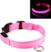 LED lichtband - Lichtgevend - Hondenhalsband - Roze - XS