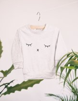 Little Superhero - Cute sweater grijs - Maat 110