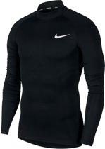 Nike Pro 5 Longsleeve  Sportshirt - Maat S  - Mannen - zwart/wit