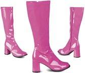 Disco laarzen voor dames - Verkleedattribuut - Maat 38 - Roze