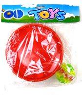 Toys - Zuignap Bal Vang en Gooi Spel - 2 Assorti - Rood of Blauw