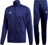 adidas Core18  Trainingspak - Maat M  - Mannen - donker blauw