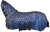 Vliegendeken comfort met vaste nekt hexagon qhp paardendeken - maat 165