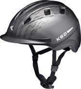 KED Basco L black anthracite matt helm met hoofdomtrek: 55-60 cm
