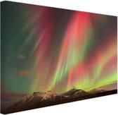 Noorderlicht explosie Canvas 120x80 cm - Foto print op Canvas schilderij (Wanddecoratie)