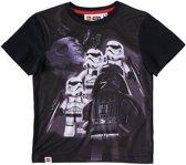 LEGO-Star-Wars-T-shirt-met-korte-mouw-zwart-maat-116