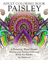 Adult Coloring Book Paisley