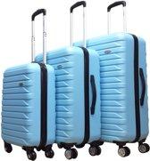 Benzi Kofferset - 3 delig - Malagon - lichtblauw