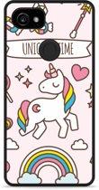 Pixel 2 XL Hardcase Hoesje Unicorn Time