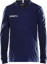 Craft Squad Jersey Solid LS Shirt Junior  Sportshirt - Maat 122  - Unisex - blauw/wit Maat 122/128