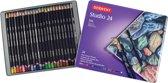 Derwent Studio 24 kleurpotloden in blik