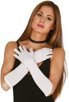 Voordelige witte gala handschoenen voor dames