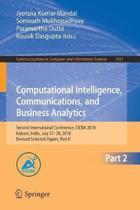 Computational Intelligence, Communications, and Business Analytics
