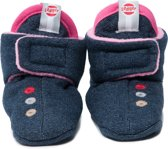 Lodger - Baby Slipper 0-4 maanden - Tough Denim Princess