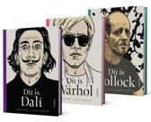 Dit is-pakket: dalí - Warhol - pollock
