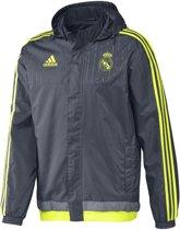 Real Madrid All Weather Jacket - Maat S - Kleur Solar Grey