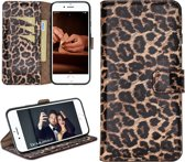 Bouletta Lederen Apple iPhone 7/8 Plus Hoesje - Book Case - Leopard