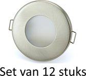 3W GU10 badkamer inbouwspot Zilver mat rond | Koel wit |Set van 12 stuks