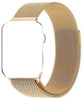 Milanees Apple Watch 42 mm Bandje voor Apple Watch Series 3 2 & 1 - One-size – 42mm RVS Milanees Watchband voor iWatch – Goud – Band met Magneetsluiting